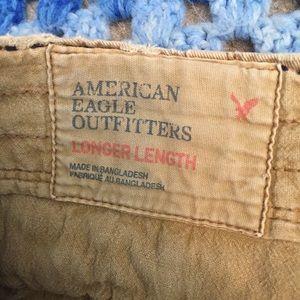 American Eagle Outfitters Shorts - American Eagle Longer Length Khaki Shorts Waist 26